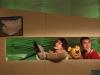 """10032011 Leeuwarden.Tryater  speelt """" Tomke siket om 'e kluts """". Tekst en Regie: Bram de Goeij, Spel: Hans Thissen, Theo Smedes, Brecht Wassenaar. Muziek: Hans Thissen. Vormgeving: Johan en Annemarie Klijn. Foto : Karel Zwaneveld"""
